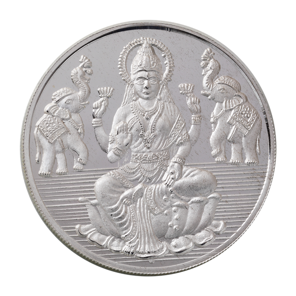 100 Gram Lakshmi Silver Coin (999 Purity)