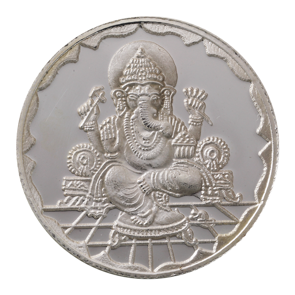 10 Gram Ganesh Silver Coin (999 Purity)