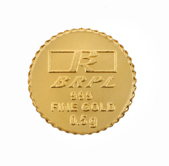 0.5 Gram Gold Coin 24kt (999 Purity)