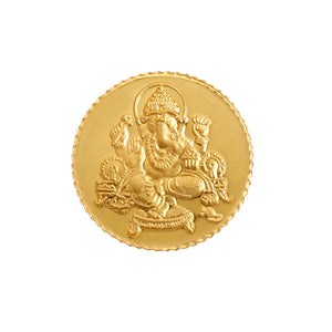 2 Gram Ganesh Gold Coin 24kt (999 Purity)