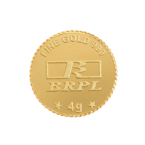 4 Gram Gold Coin 24kt(999.9 Purity)