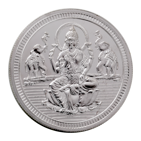 50 Gram Lakshmi Silver Coin (999 Purity)