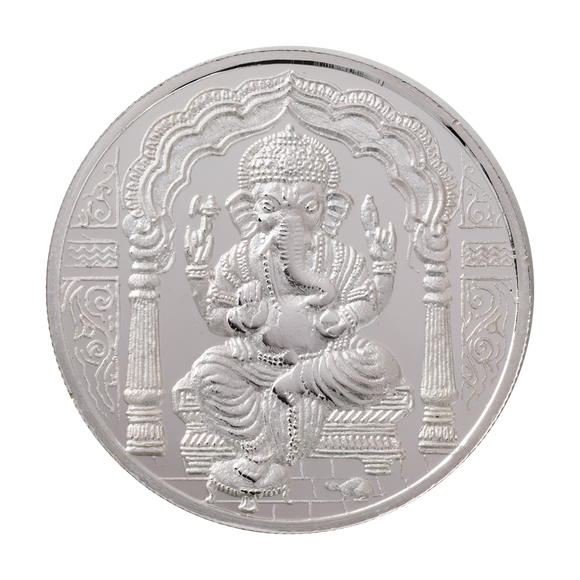 50 Gram Ganesh Silver Coin (999 Purity)