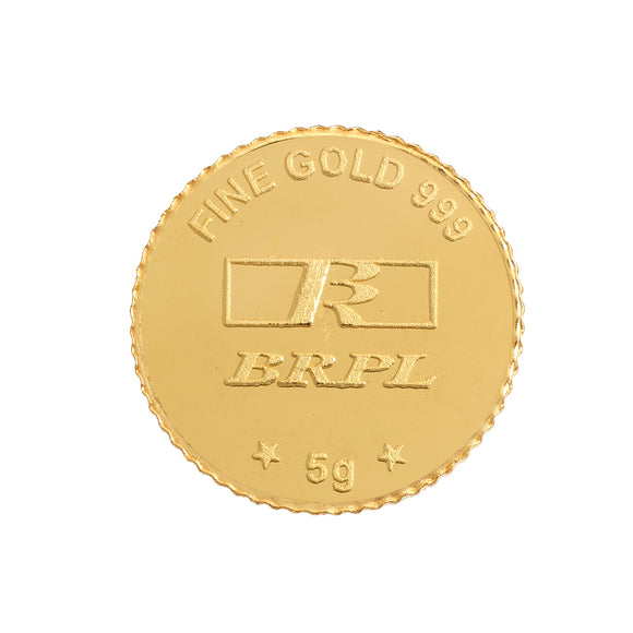 5 Gram Gold Coin 24kt (999 Purity)