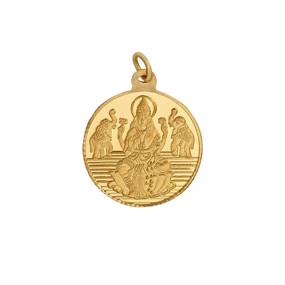 2.5 Gm Round Lakshmi 24k (999) Yellow Gold Pendant