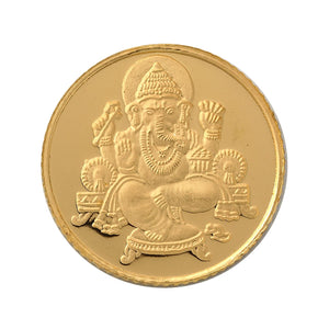 5 Gram Ganesh Gold Coin 24kt(999 Purity)