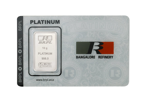 10 Gram Platinum Bar (999 Purity)