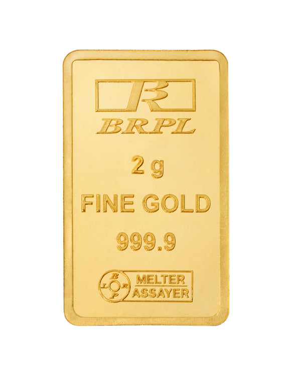 2 Gram Gold Bar 24kt (999.9 Purity)