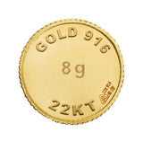 8 Gram Gold Coin 22kt (916 Purity)