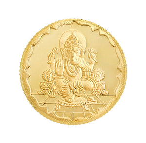4 Gram Ganesh Gold Coin 22kt(916 Purity)