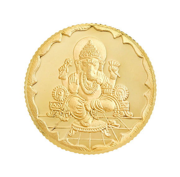 1 Gram Ganesh Gold Coin 22kt(916 Purity)