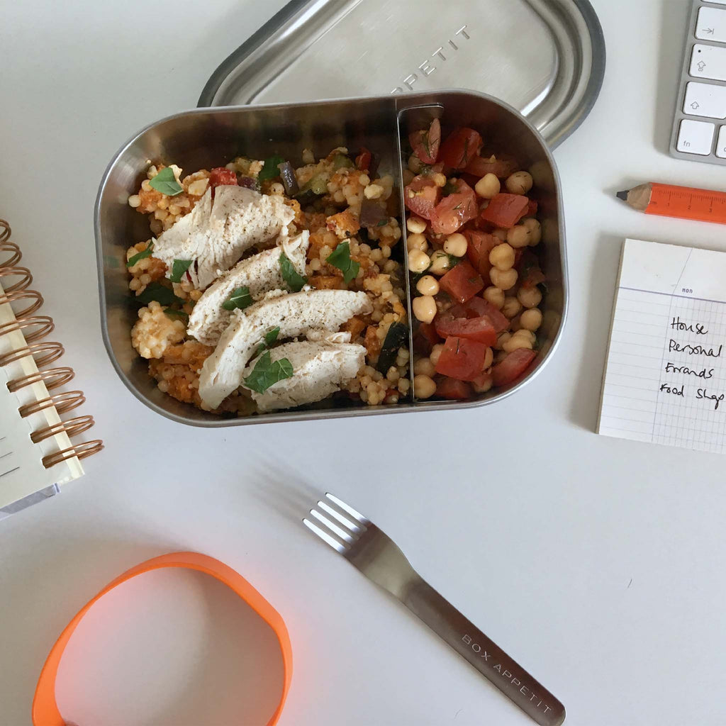 RECIPE: Giant couscous with roasted vegetables and feta