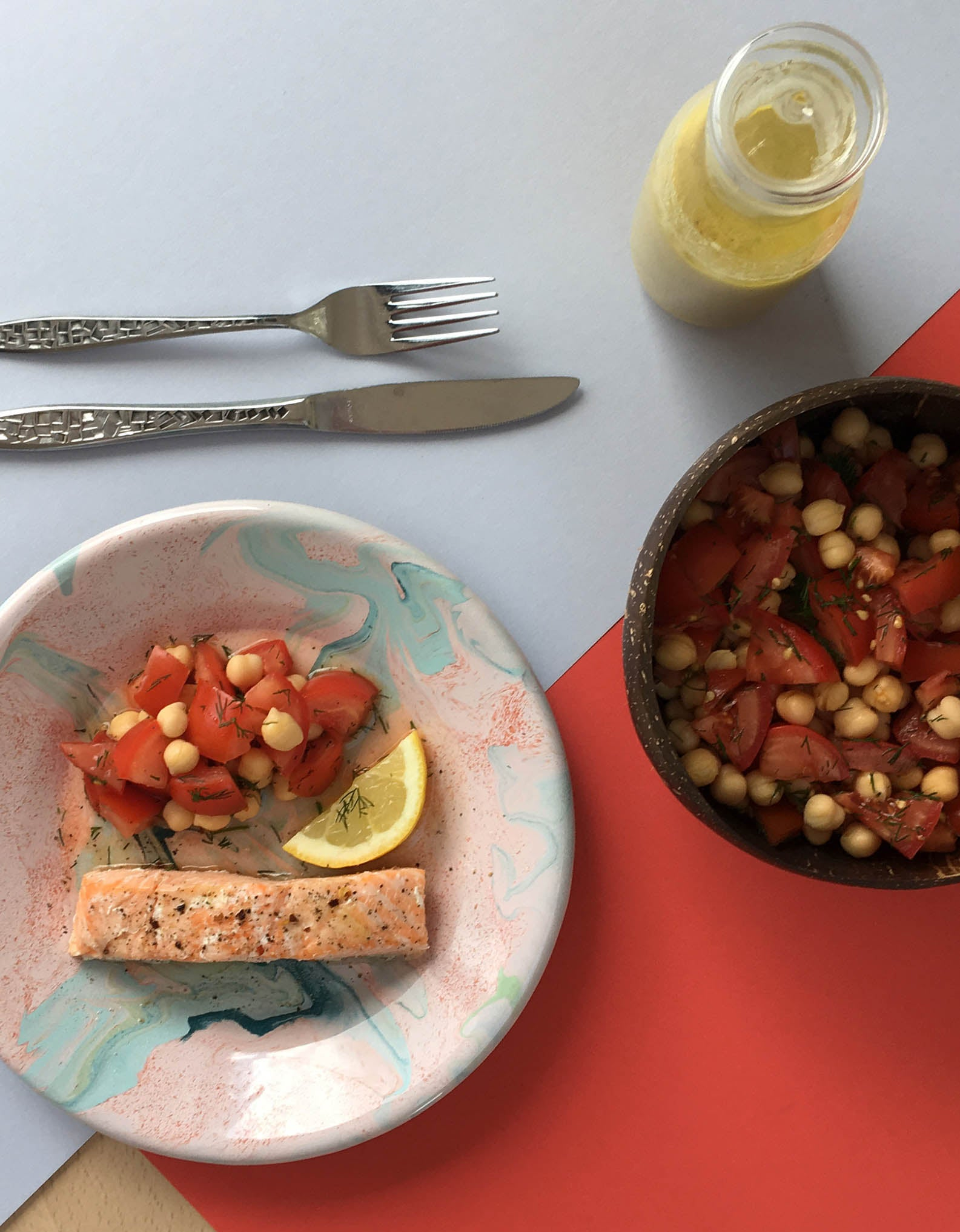 Tomato, Chickpea and Dill Salad