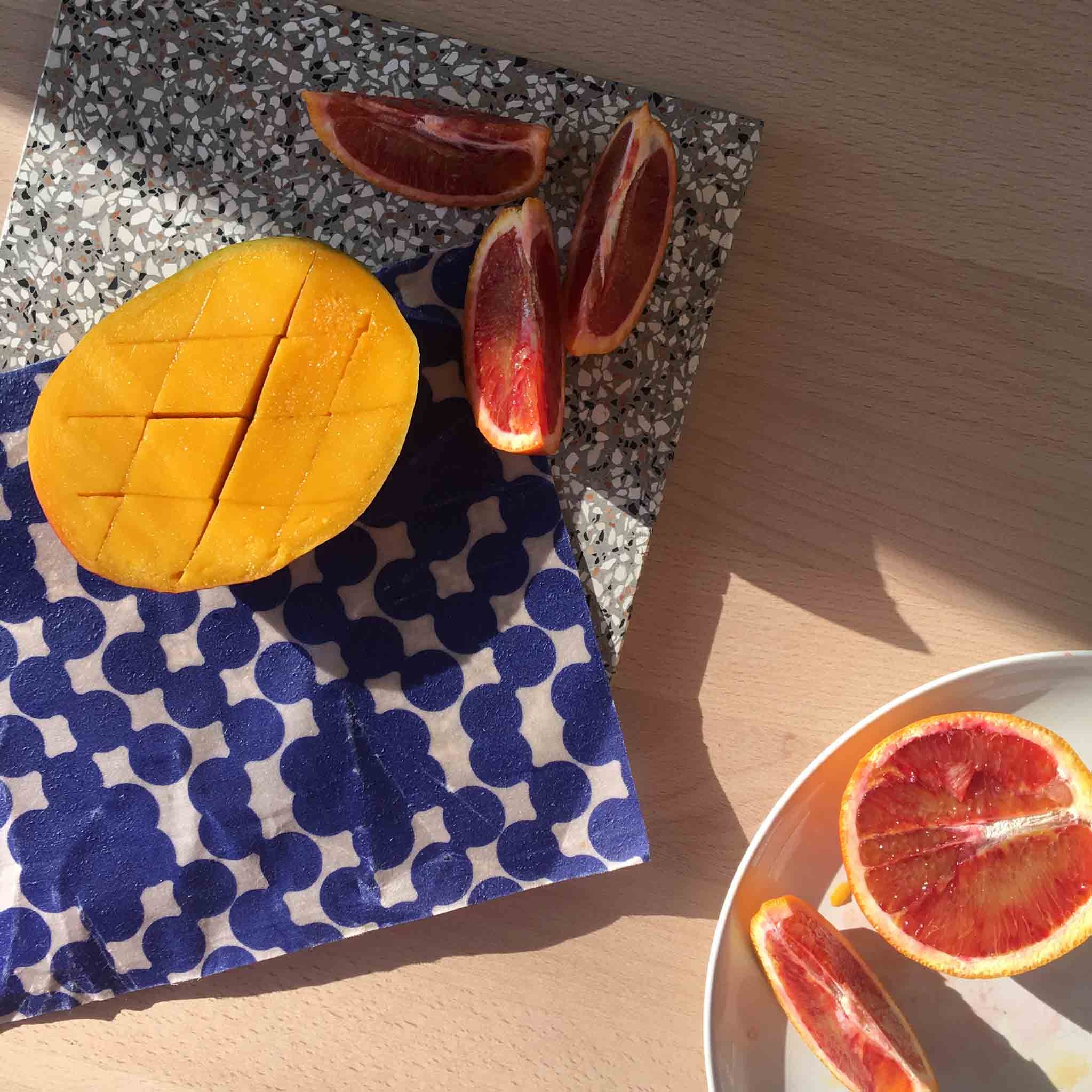 Fruit wrapped in beeswax wraps