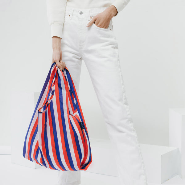 Baggu - Stripe Standard Nylon Bag - White Space Home