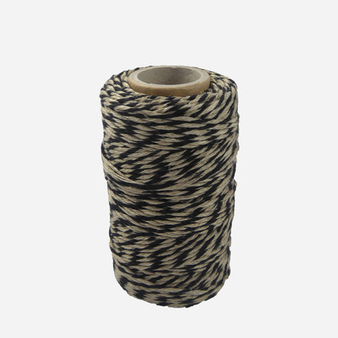 Black/Natural Flax Bakers Twine - White Space Home