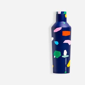 Corkcicle x Poketo Canteen Water Bottle - Blue Confetti - White Space Home