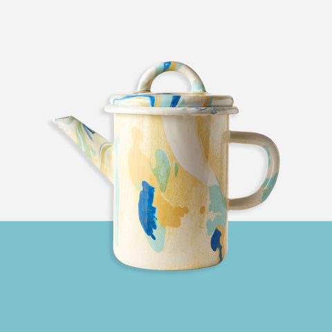 Bornn - Enamel Teapot - White Space Home