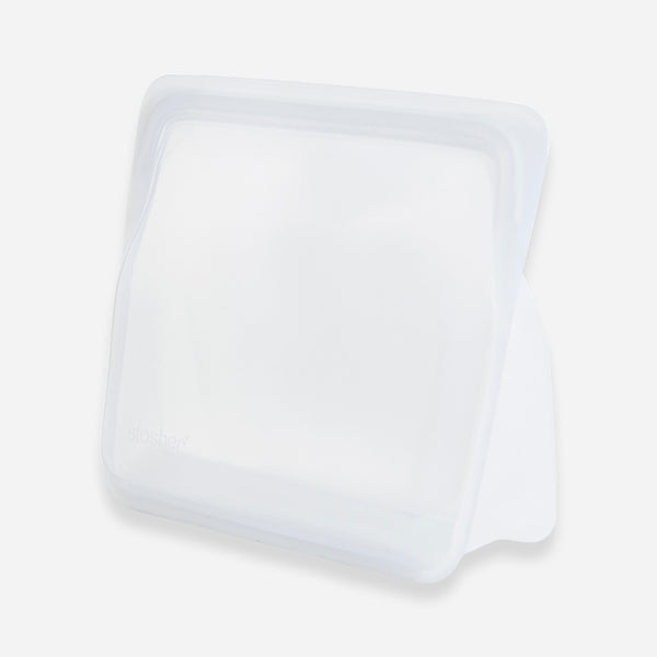 Silicone Storage Bag - Clear - Stasher - White Space Home