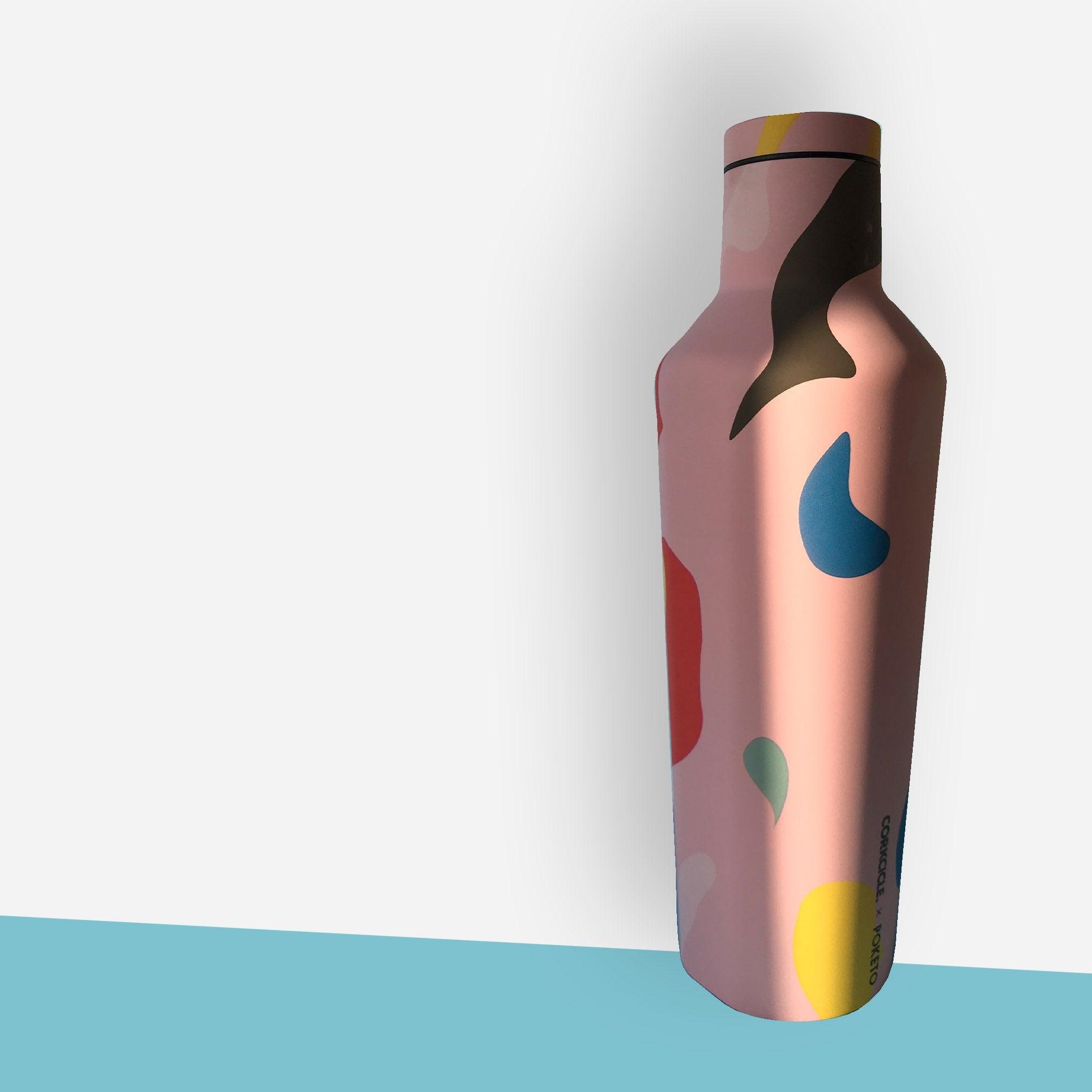 Corkcicle x Poketo Canteen Water Bottle - Pink Party - White Space Home