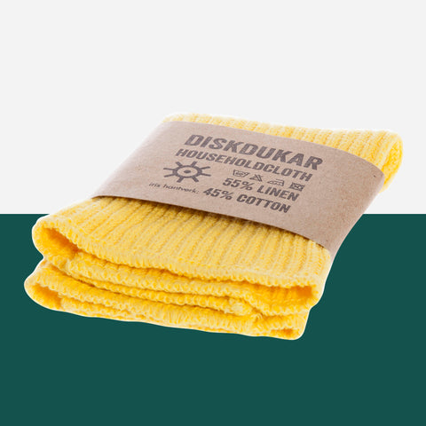 Iris Hantverk Yellow Dish Cloth - White Space Home