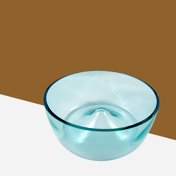 Turquoise Glass Serving Bowl - White Space Home
