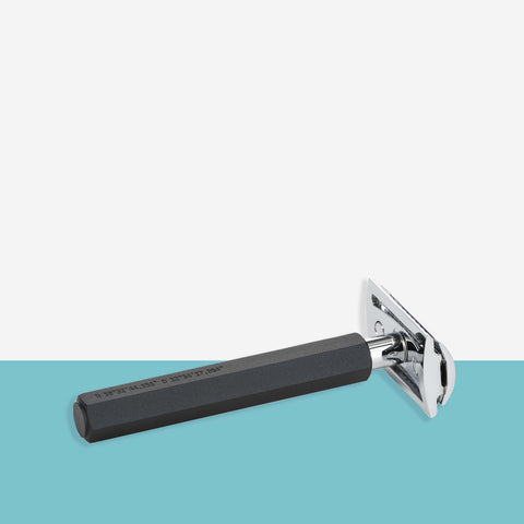 Muhle - Graphite Hexagon Safety Razor by Mark Braun - White Space Home