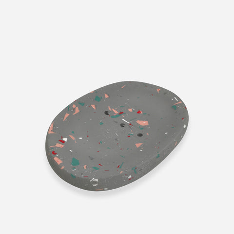 Terrazzo Soap Dish - White Space Home - White Space Home
