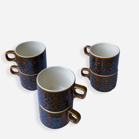Retro Tea Cups - Hornsea Pottery