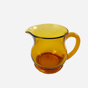 Vintage Amber Glass Jug - White Space Home