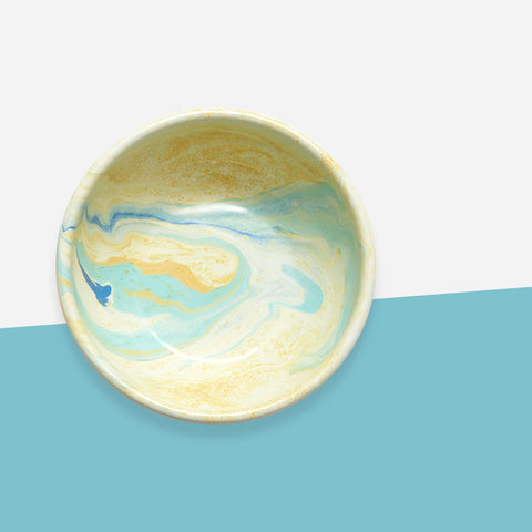Bornn Lemon Yellow Marble Cereal Bowl - Whitespacehome