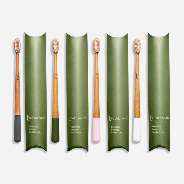 The Truthbrush - Bamboo Toothbrush - White Space Home