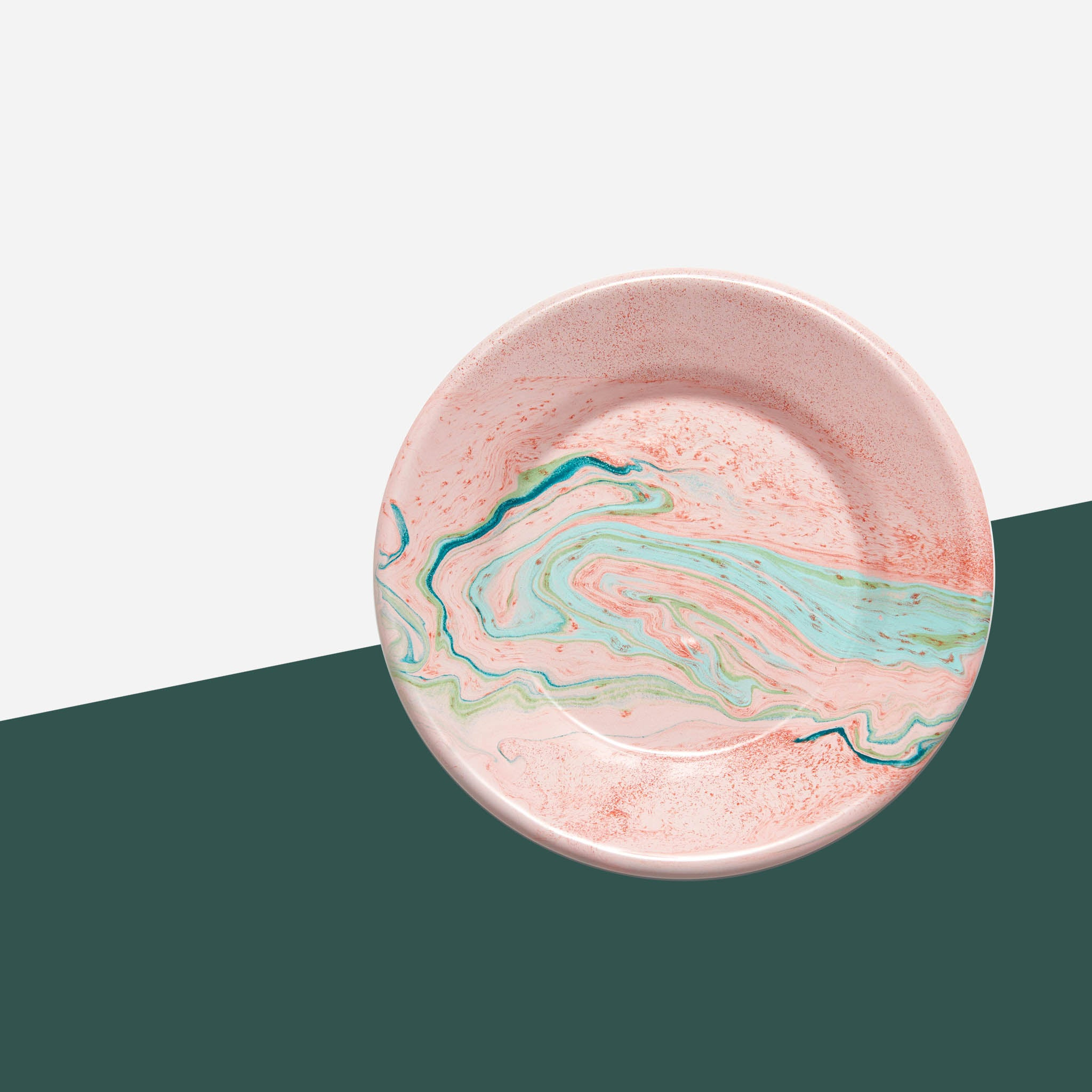 Bornn - Blush Pink Marble Side Plate - White Space Home