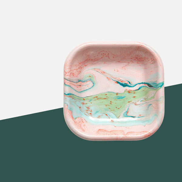 Bornn Small Blush Marble Bowl - White Space Home