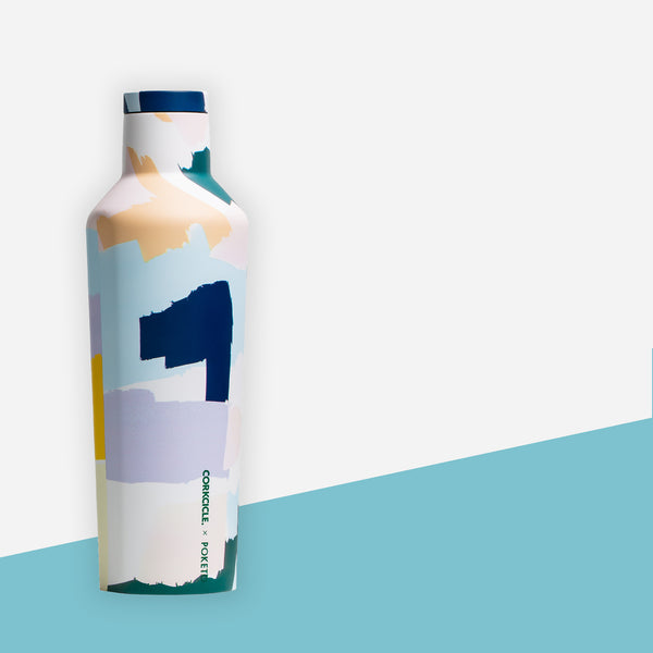 Corkcicle x Poketo Canteen Water Bottle - White Space Home