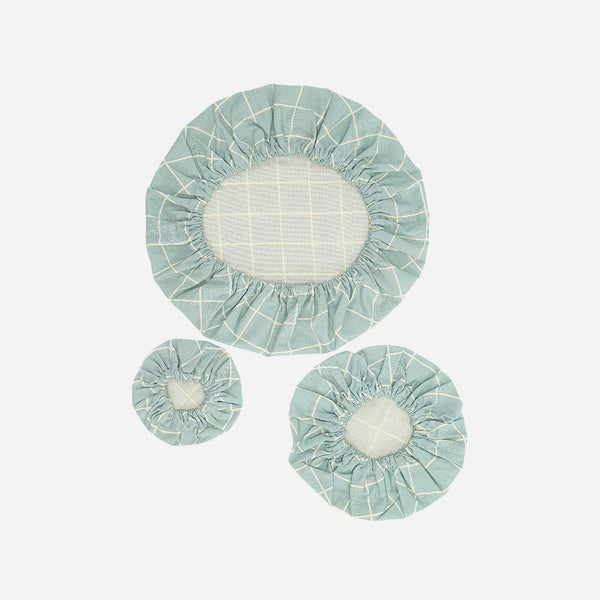 Reusable Bowl Covers - Haps Nordic - Sky Check - White Space Home