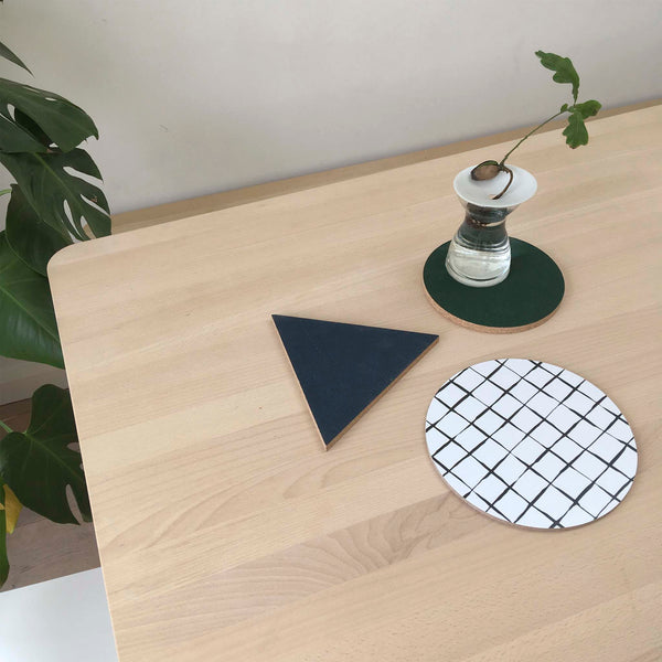 Iris Hantverk Cork Trivet Set - White Space Home