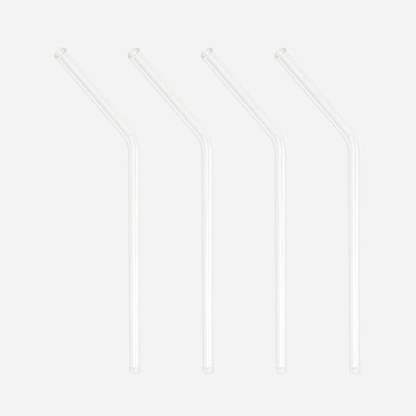 Reusable Glass Straw and Cleaning Brush - White Space Home
