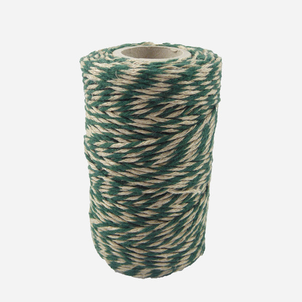 Black/Natural Flax Bakers Twine - Whitespacehome