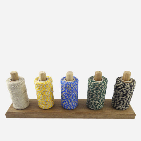 Oak Twine Holder & Coloured Flax Twine - White Space Home