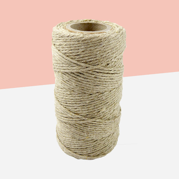 Natural Flax Bakers Twine - White Space Home