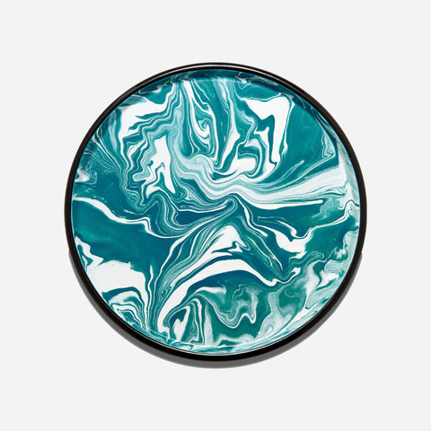 Bornn Teal and White Marble Serving Tray - White Space Home
