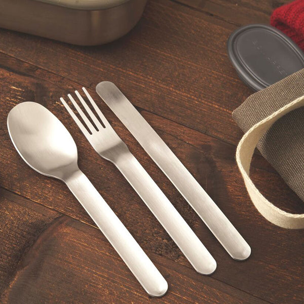 Black and Blum - Stainless Travel Cutlery - White Space Home