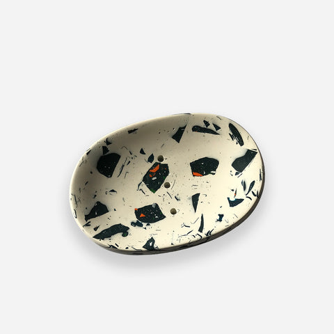 Bespoke Terrazzo Soap Dish - White Space Home - White Space Home