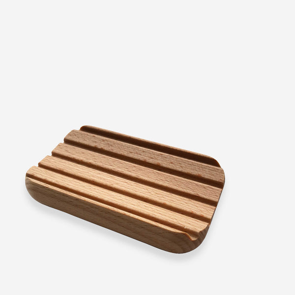 Natural Wood Soap Dish - Redecker - White Space Home