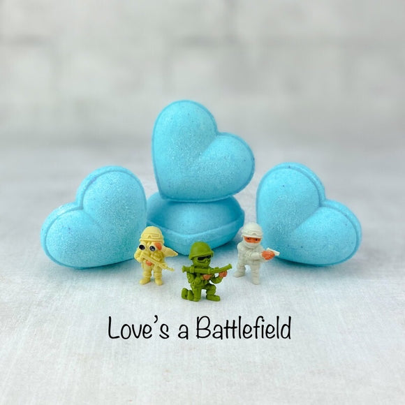 Surprise Heart Bath Bomb - Love's a Battlefield | 2 oz