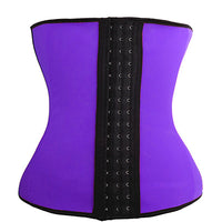 S-6XL Latex Waist Cincher Steel Boned Waist Trainer Corset Underwear Slimming Body Shaper Shapewear Modeling Strap Tummy Control