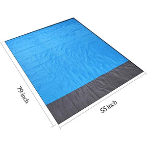 Waterproof Beach Blanket with many uses - Portable + Outdoor + Picnic Mat + Camping + Travel + Sand Rug