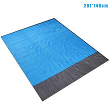 Load image into Gallery viewer, Waterproof Beach Blanket with many uses - Portable + Outdoor + Picnic Mat + Camping + Travel + Sand Rug