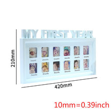 Load image into Gallery viewer, MY FIRST YEAR Baby's 0-12 Month Display Frame - Plastic Photo Frame